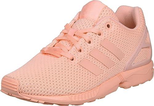 Zapatillas adidas - Zx Flux J coral/rosa/coral talla: 38-2/3: Amazon.es: Zapatos y complementos