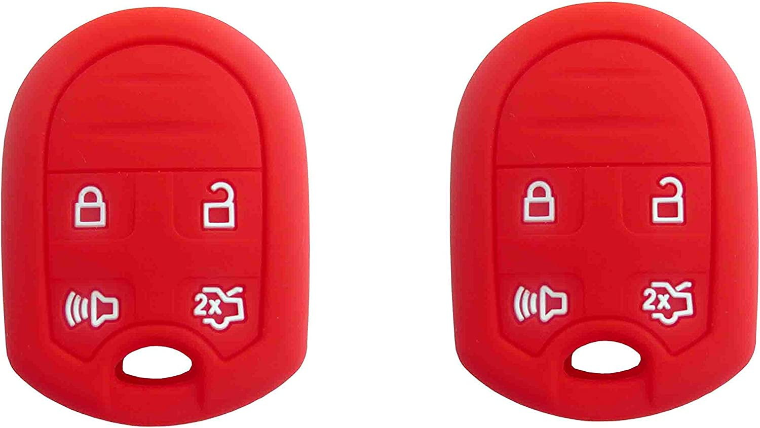 1 Pair BAR Autotech Remote Key Silicone Rubber Keyless Entry Shell Case Fob and Key Skin Cover fit for Ford Expedition F150 F250-350 Lincoln Navigator Blue