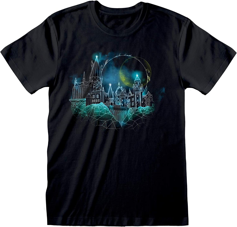 Harry Potter Estructura metálica de Hogwarts Novio Camiseta Apta de Las Mujeres   mercancía Oficial