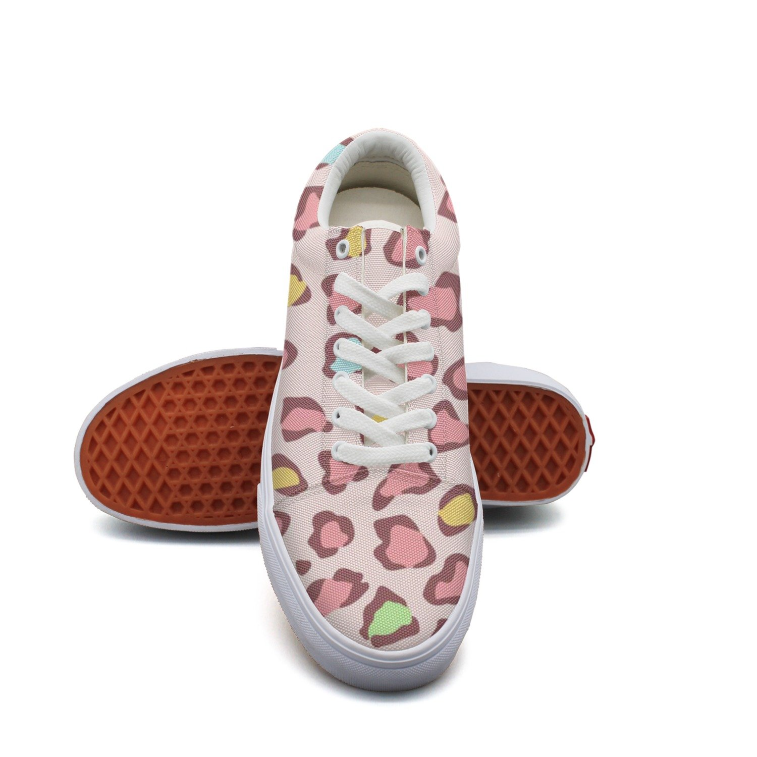 Multi Color Giraffe Print Fashion Canvas Sneaker Shoes For Womns 3D Printed Low Top Running Shoes