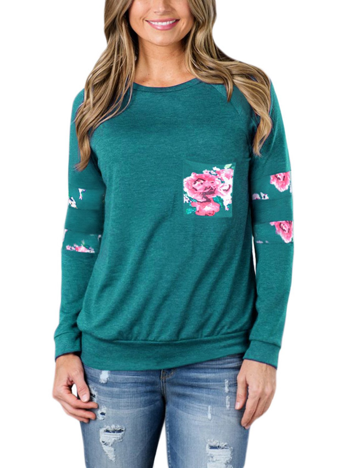 Dearlovers Womens Plus Size Sweatshirts Casual Long Sleeve Sweatshirt Tops and Blouses Green XXL