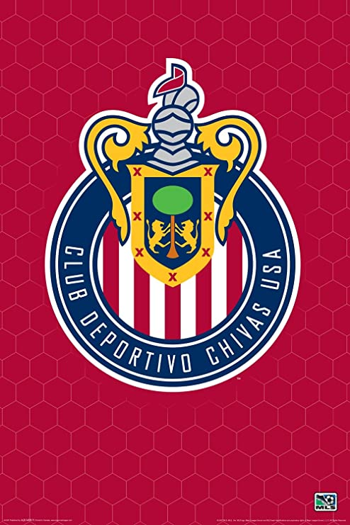 amazon com club deportivo chivas usa logo major league soccer mls team sports fan poster print 24x36 posters prints club deportivo chivas usa logo major league soccer mls team sports fan poster print 24x36