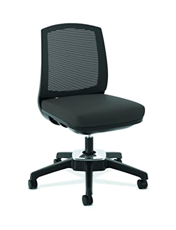 HON Active Task Chair   Armless Computer Chair For Office Desk, Black Mesh  (HVL951