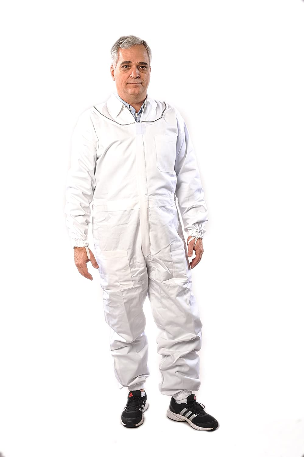 Forest Beekeeping Supply Premium Cotton Beekeeping Suit with Fencing Veil Suitable for Beginner /& Commercial Beekeepers Brass Zippers Thumb Straps Hive Tool Pockets-Medium