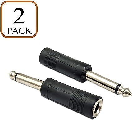"2 Pack Lot 3.5mm Mono Y Splitter Audio Adapter Female Jacks 1//8/"" Male to 2"