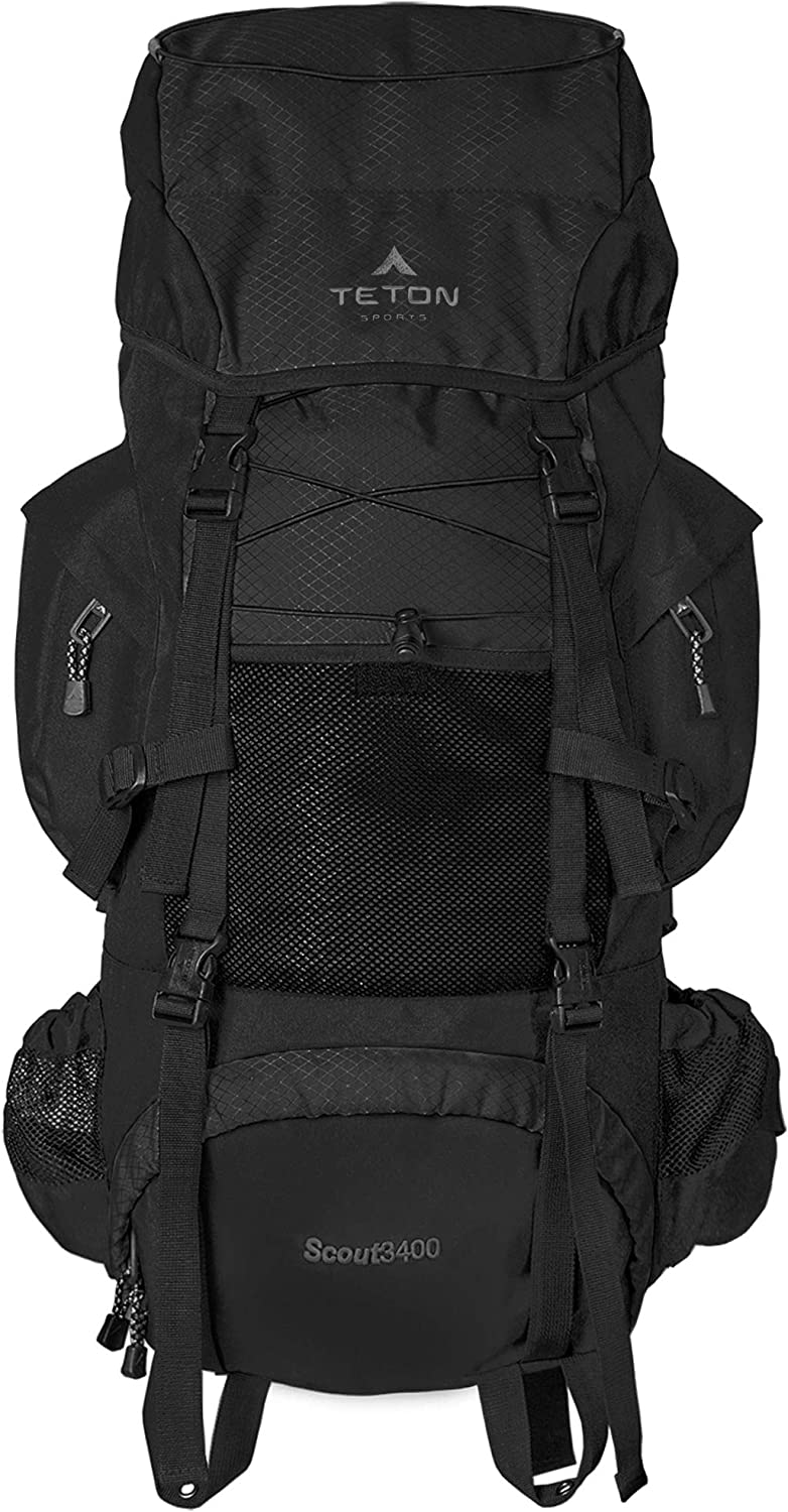 Extensive storage pockets and compartments; large sleeping-bag compartment; multi-directional compression straps