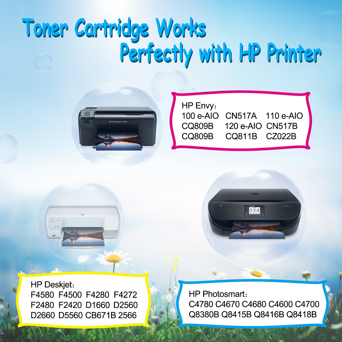 300XL 300 XL Cartuchos de Tinta CMYBabee de Reemplazo para HP Envy ...