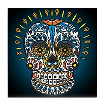 CafePress – décoratifs mexicain Tête de mort – pour carrelage ...