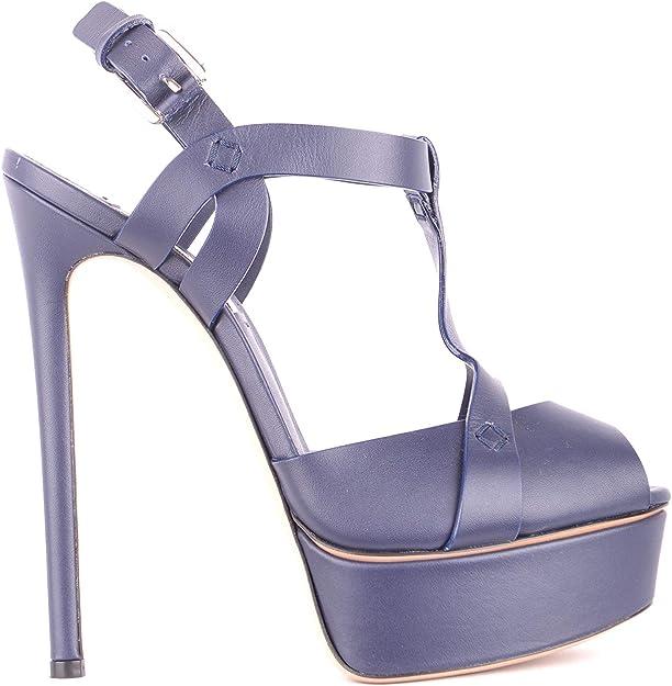 Mcbi35135 Blue Leather Sandals: Amazon