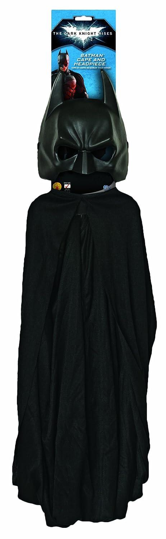 Batman The Dark Knight Rises Batman Cape and Mask Set Black One Size Rubies Costumes - Apparel 30858