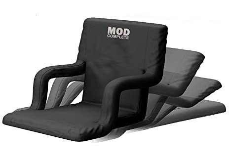 Mod Complete Wide Stadium Seat Chair For Bleachers Or Benches Enjoy Padded Cushion Backs And Armrest Support 6 Reclining Custom Fit Sport