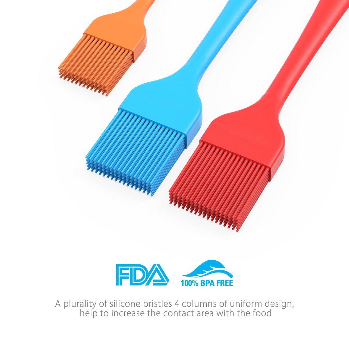 Amazon.com : EXVI Heat Resistant Silicone Basting Pastry Brush ...