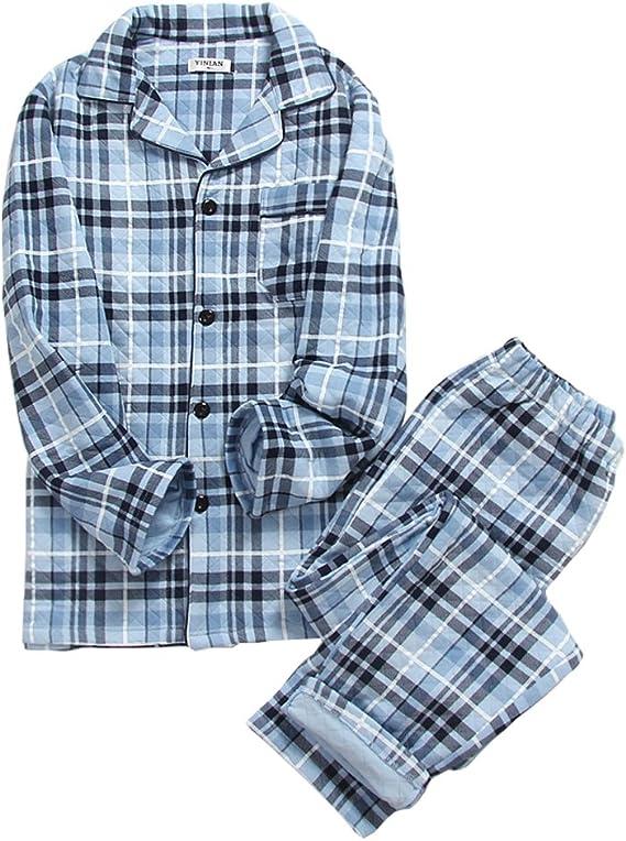 Pijama de algodón Acolchado de otoño e Invierno para Hombre ...