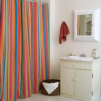 Le Jardin Stripe Shower Curtain