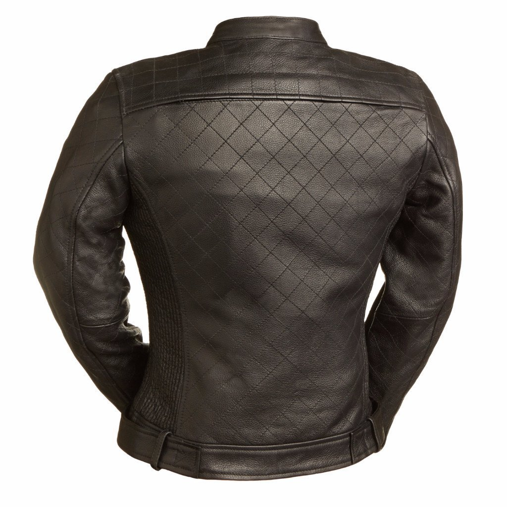 First Manufacturing Womens Queen of Diamonds Motorcycle Jacket