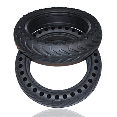 Rollsafe Drilled Solid Tubeless Replacement Tires for Xiaomi Mi Electric Scooter M365 Mijia (Set of 2) : Sports & Outdoors