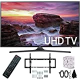 "Samsung UN49MU6290FXZA Flat 48.5"" LED 4K UHD 6 Series Smart TV (2017) with Flat and Tilt Wall Mount Bundle, Two (2) 6 Foot HDMI Cables, and a Six Outlet Surge Adapter"