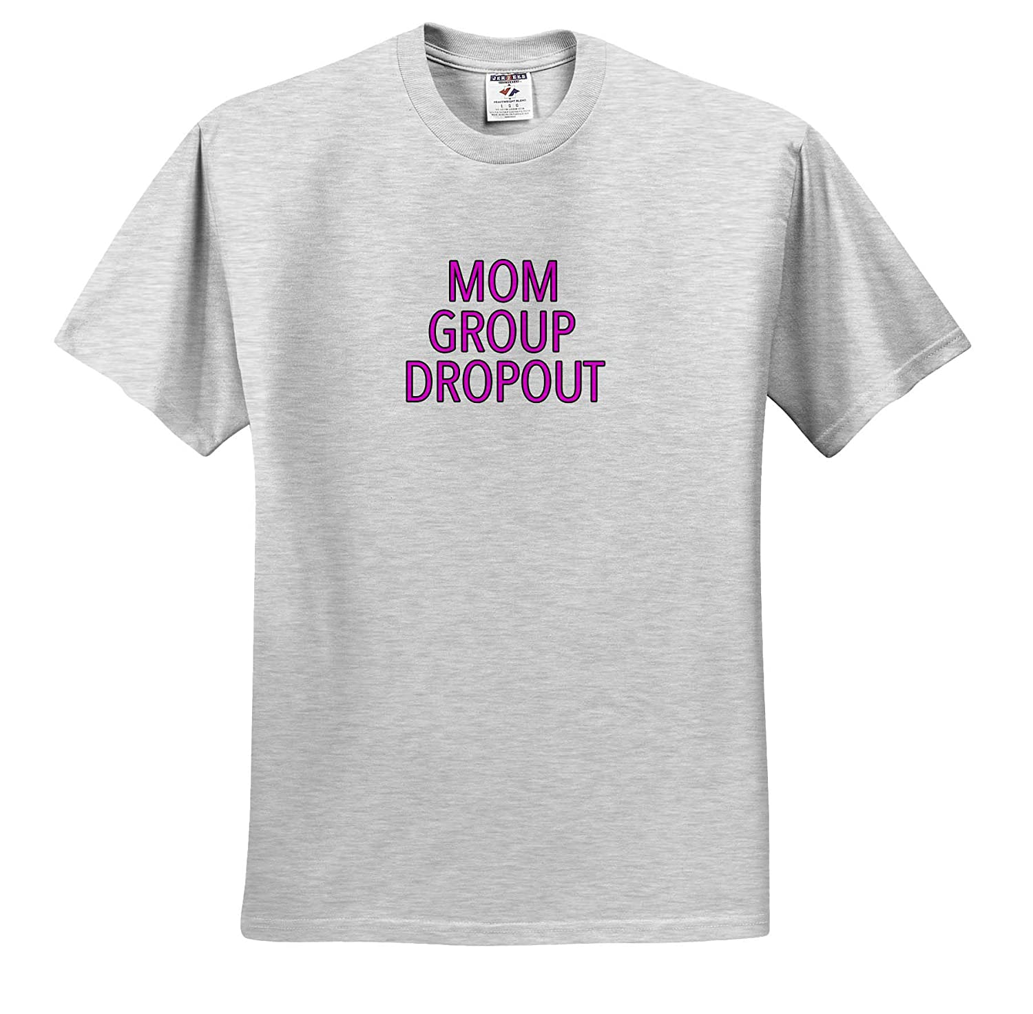 Family Sayings Mom Group Dropout Pink Adult T-Shirt XL 3dRose EvaDane ts/_320963
