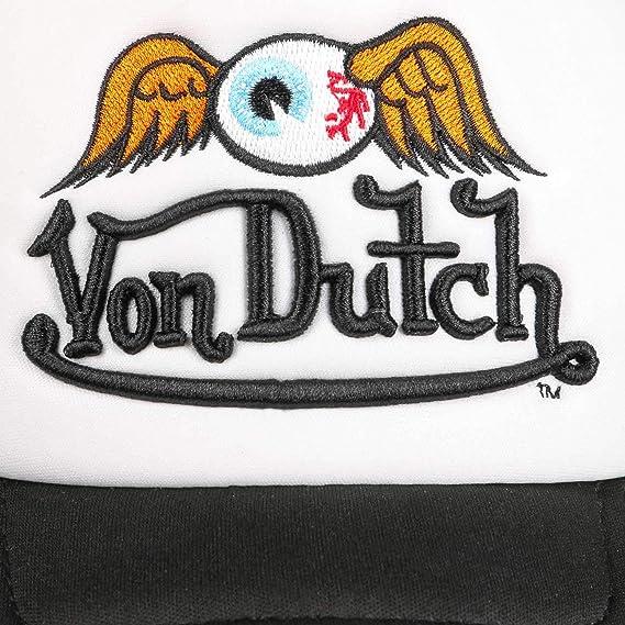 Von Dutch Baseball Cap Camouflage Curved Peak Trucker Orange Mesh Snapback Hat
