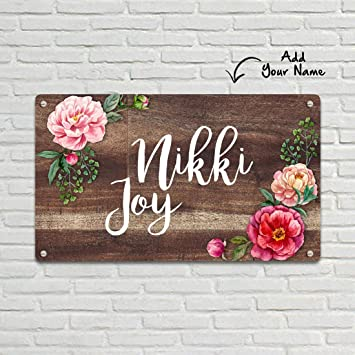 Buy Nutcase Personalized Customized Designer Metal Name Plate For Home Outdoor Door Rust Waterproof Name Plaques W 11 X L 6 5 Online At Low Prices In India Amazon In