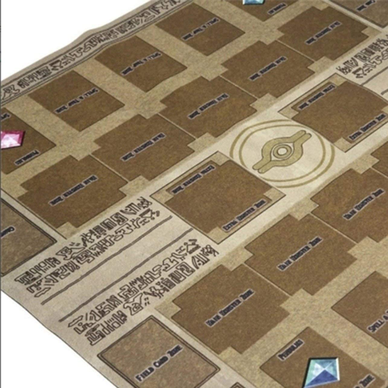 60cm Rubber Play Mat Dennis World Type Competition Pad for Yu-gi-oh Card Romirofs Card Play 60