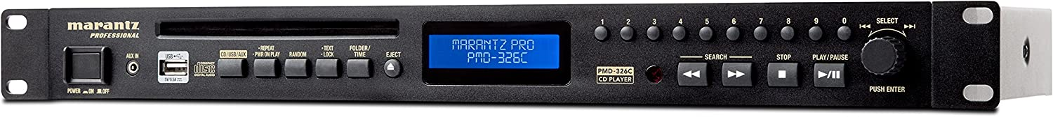 Commercial CD Player with Remote Control and USB and 3.5mm Aux Inputs Marantz Professional PMD-326C
