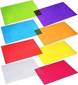 Outus Cellophane Wraps Cellophane Sheets Cello Sheets 11.8 by 8.5 Inch, 8 Colors, 104 Pieces