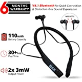 MMAK MK-32 Wireless Neckband Stereo Earphone Bluetooth Headphone with Mic for Smartphone and Android Mobile Phones (Random Colour)