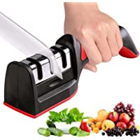 Knife Sharpener, Necomi مبراة سكين, Kitchen Knife Sharpener for Sharpening and Polishing Kitchen Knives with Easy Manual…