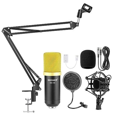 Neewer NW-700 Micrófono de Condensador Estudio Profesional ...