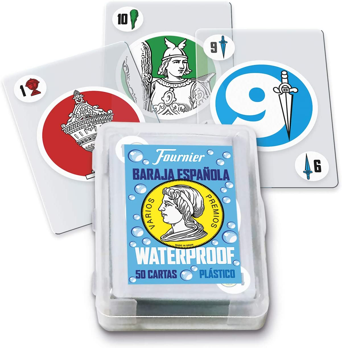 Fournier- Baraja Española de Cartas Waterproof de Plástico para Piscina y Playa (1045928)