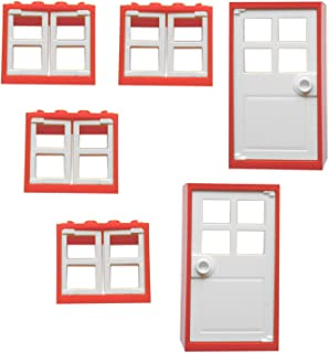 LEGO Windows and Doors Set  sc 1 st  Amazon UK & LEGO 15 Window u0026 Door Bundle - 10 x 1x4x3 Windows With Glass u0026 5 x ...
