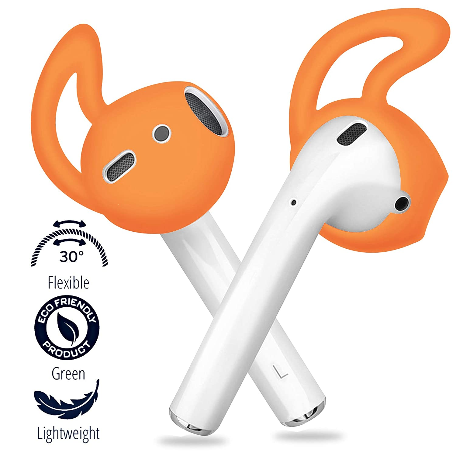 White 2 Pairs FONY Apple Airpods Ear Hooks and Covers Anti-Slip Silicone Accessories Compatible with AirPods 1//2 or EarPods Headphones//Earbuds//Earphones
