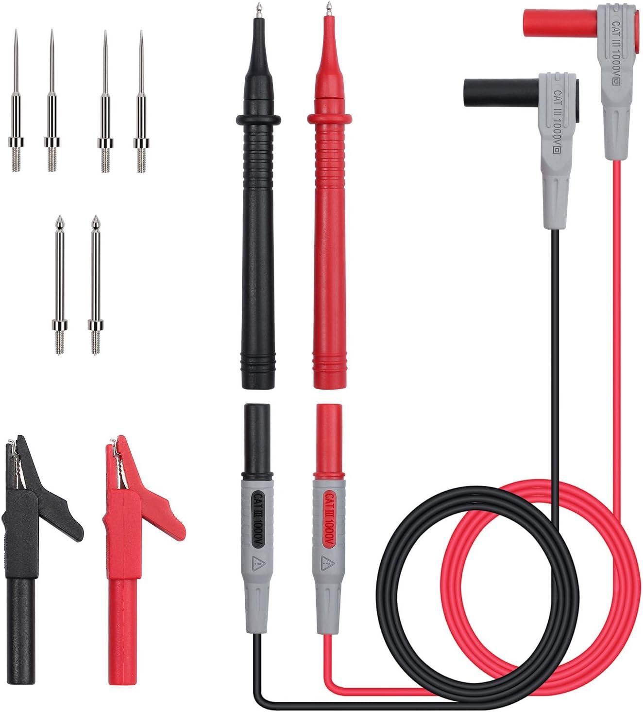 Details about  /Sumnacon 10 Pcs Multimeter Electrical Test Dual Lead Hook Clips 5 Colors To