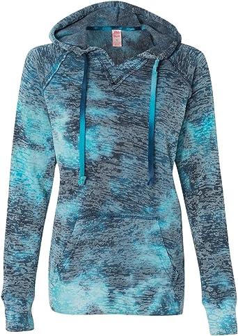 MV Sport W1162 Women/'s Courtney Burnout V-Notch Sweatshirt