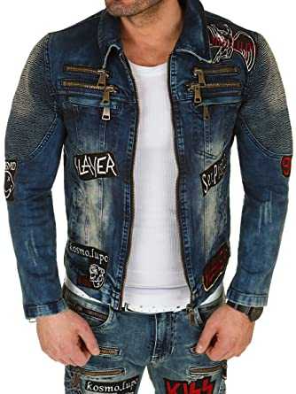 official photos 954e0 7960c Kosmo Lupo Herren Jeansjacke Jeans Jacke Denim