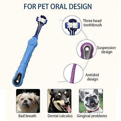 PUAK523 Pak523 Cepillo de Dientes para Mascotas, Cuidado Dental para Mascotas, Cepillo de Dientes