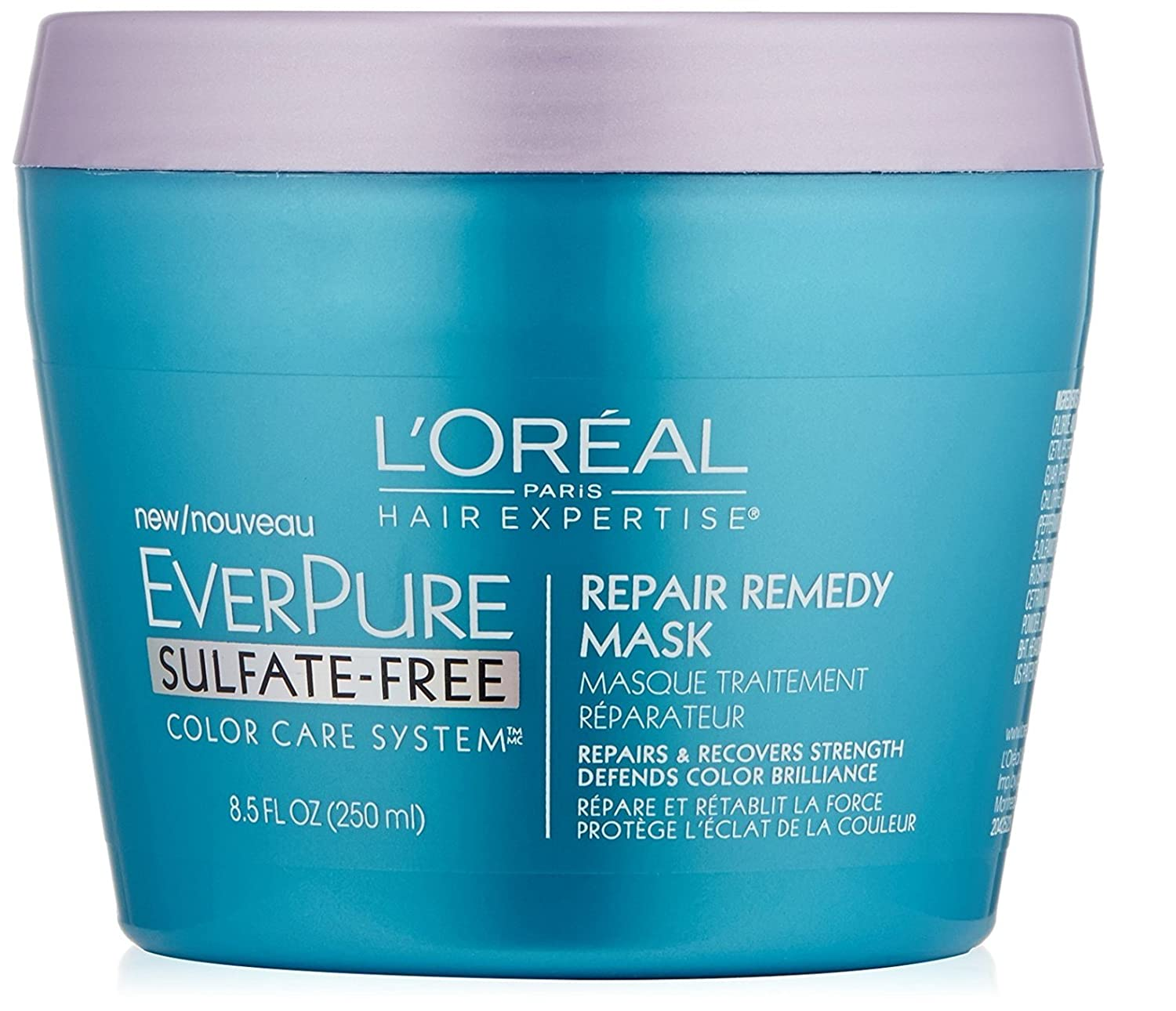L'Oreal Paris Hair Care Expertise Everpure Repair and Defend Rinse Out Mask, 8.5 Fl Oz + FREE Curad Dazzle Bandages 25 Ct