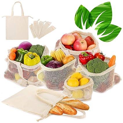 Reutilizables de Frutas y Verduras Bolsas de Algodón ...