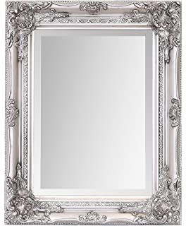 d4430eb0f09 Shabby Chic Mirror Vintage SILVER Wall Mirror Bevel Edge With Silver ...