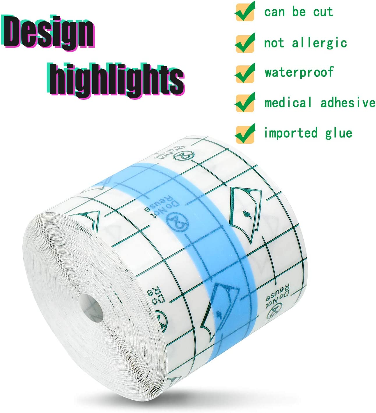 Transparent Stretch Adhesive Bandage Waterproof Bandage Clear Adhesive Bandages Dressing Tape for Tattoos (2 Inch x 10.94 Yard ?: Health & Personal Care