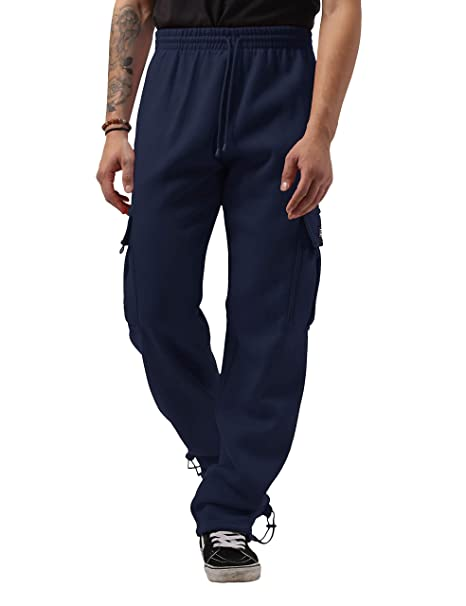 search for latest new high quality factory outlets Ma Croix Mens Premium Heavyweight Cargo Sweatpants Fleece Cotton Long Pants  Big and Tall M-5XL