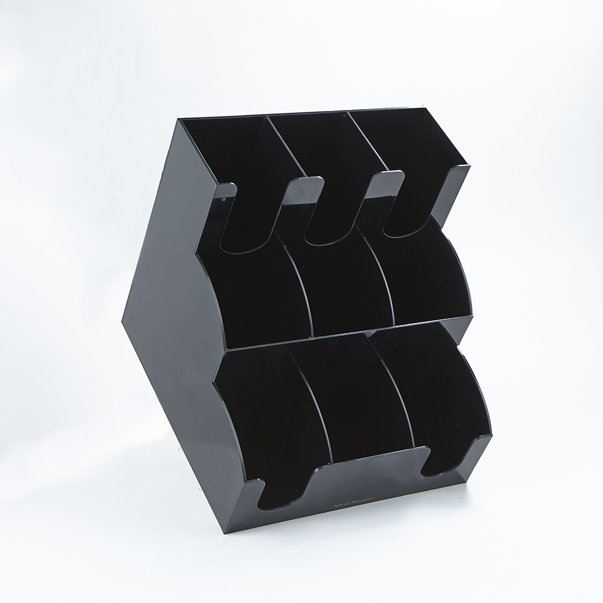 Mind Reader 9 Compartment Coffee Condiment and Accessories Organizer, Black by Mind Reader (Image #3)