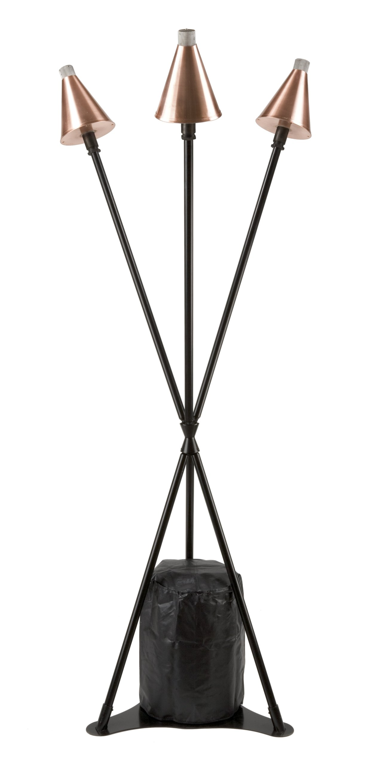 Burnaby Manufacturing 3-Head Propane Tiki Torch Stand, Copper Color by Burnaby Manufacturing Ltd