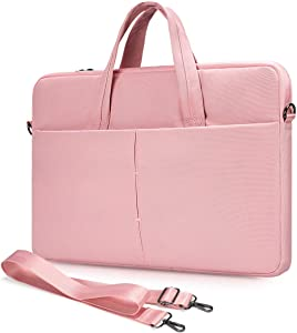 11.6 13 Inch Chromebook Sleeve Case with Shoulder Strap for Samsung Chromebook 4 3/Chromebook Plus V2 12.2, Lenovo Chromebook C340 C330/Flex 11, Asus Chromebook VivoBook(Pink)