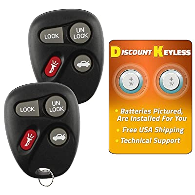 For 96-07 Cadillac Chevy Buick Oldsmobile Pontiac Keyless Entry Remote Key Fob 10443537 25678792 KOBLEAR1XT - See Listing For Vehicle Compatibilty - 2 PACK: Automotive