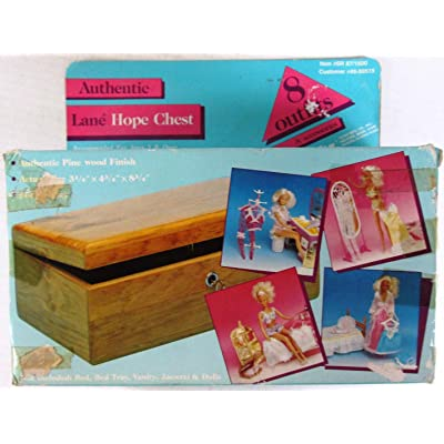 "Authentic Lane Hope Chest & Wedding Trousseau - circa 1985 Totsy Mfg. - Fits Barbie, Maxie, Ms. Flair, Sandi + Other 11.5"" Dolls - 50 Pce. Gift Set: Toys & Games"
