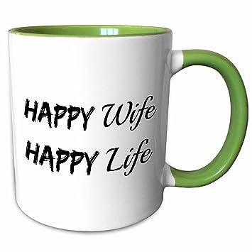 Amazon Com 3drose Xander Funny Quotes Happy Wife Happy Life Black