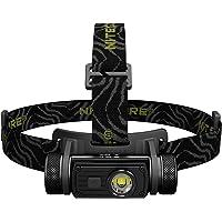 Nitecore Bundle hc60CREE XM-L2U2Recargable Linterna Frontal LED 1000lúmenes con 2x Eco-sensa Photo Pilas CR123A de Litio & Adaptador de Coche & Pared Opcional