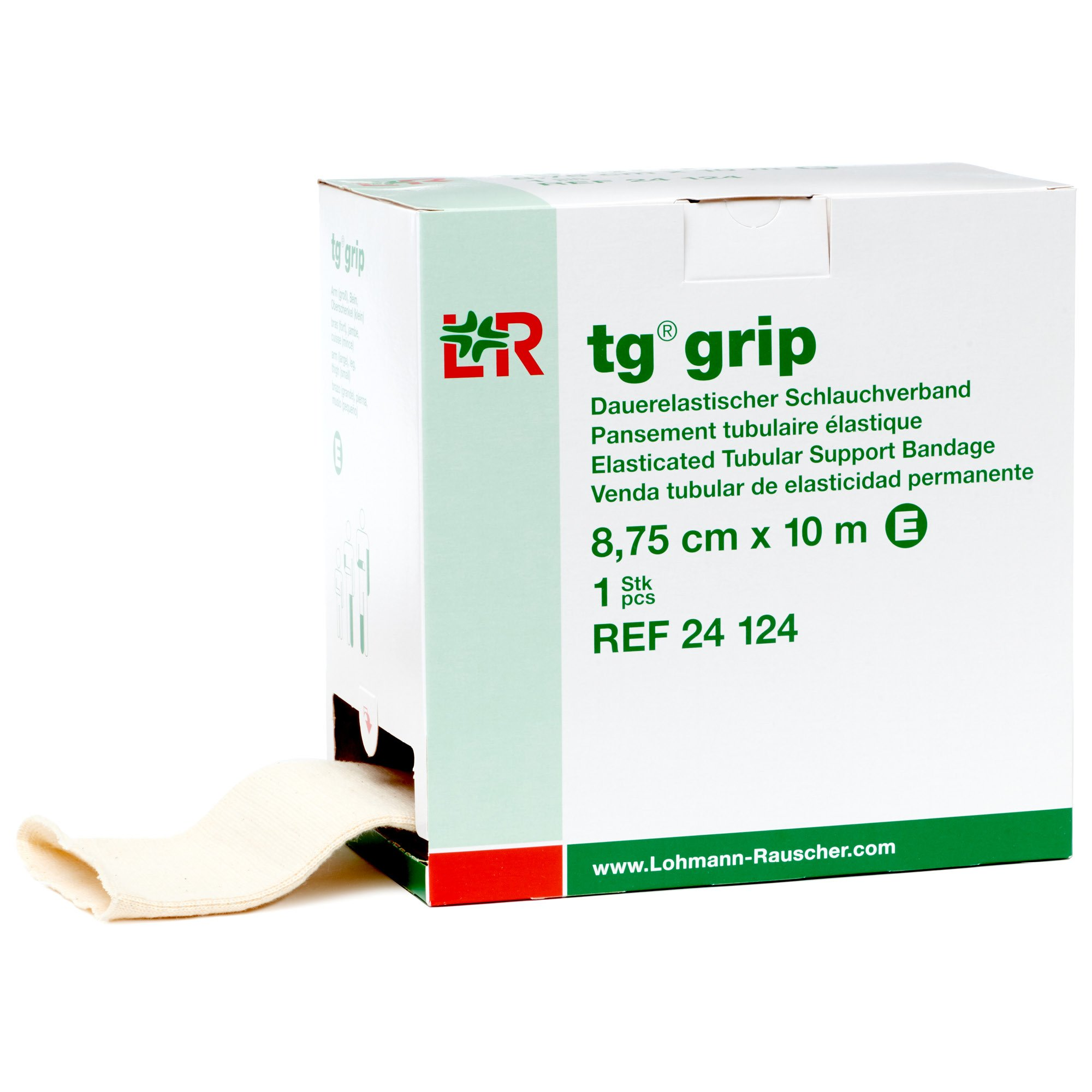 tg grip Elastic Tubular Compression Bandage, Seamless Tube Stockinette Wrap for Retention, Lymphedema, & Swelling, 85% Cotton, Washable & Reusable, Size E by Lohmann&Rauscher